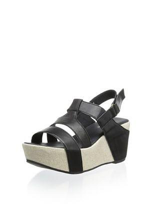60% OFF Antelope Women's Wedge Sandal (Black)