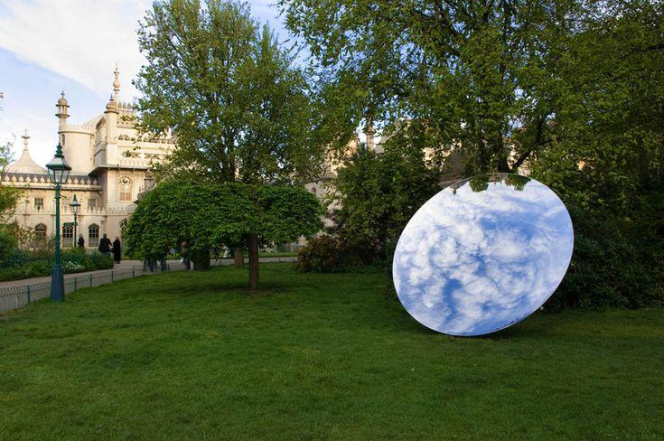 anish kapoor: 'turning the world upside down' in kensington gardens Mirror