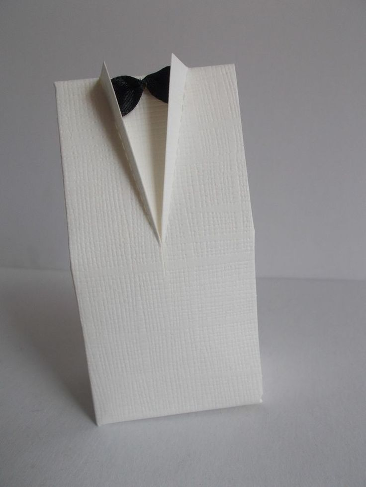 45pcs paper taxedo wedding/party favors in ivory colour