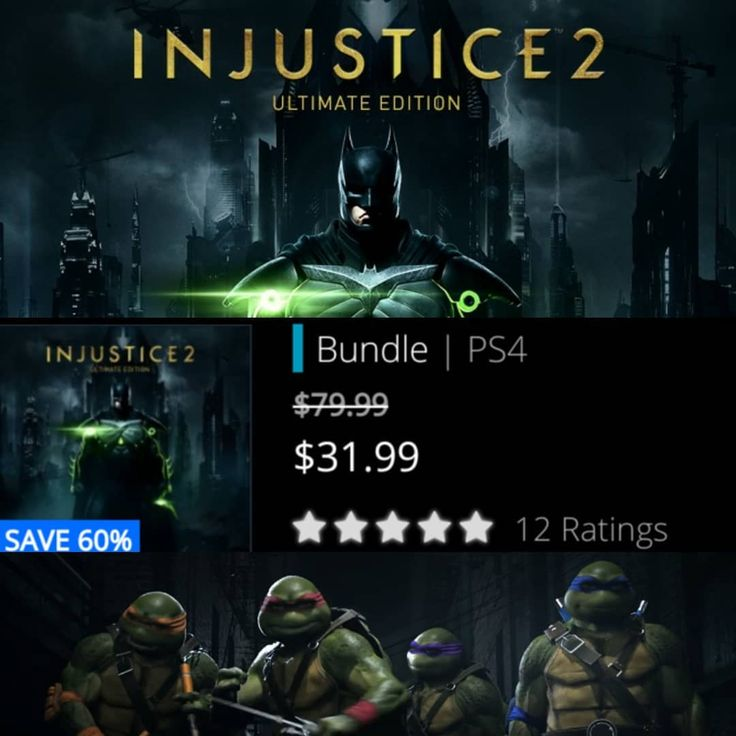 #Deal alert! #Injustice2 Ultimate edition on PS Store! Get it and play with #TMNT all weekend like me! It's $8 off the ultimate pack upgrade so if you already own the game you can upgrade at a discount plus u have a downloadable copy if u ever lose your game disc! . . #GameDeals #Thrifty #Playstation #PS4 #DLC #CAG #cheapassgamer #videogames #gamer #fightinggames #Batman #DC #MortalKombat