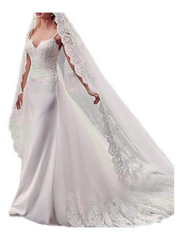 15 Detachable Train Wedding Dresses Under 200 Dollars For Brides Who Want A Removable Train Chiclypoised In 2020 Detachable Train Wedding Dress Beach Wedding Gown Elegant Wedding Dress