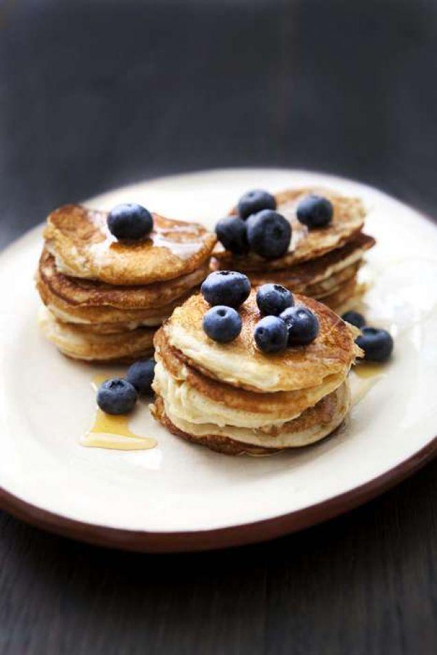 Underbara frukostpannkakor för hela familjen.