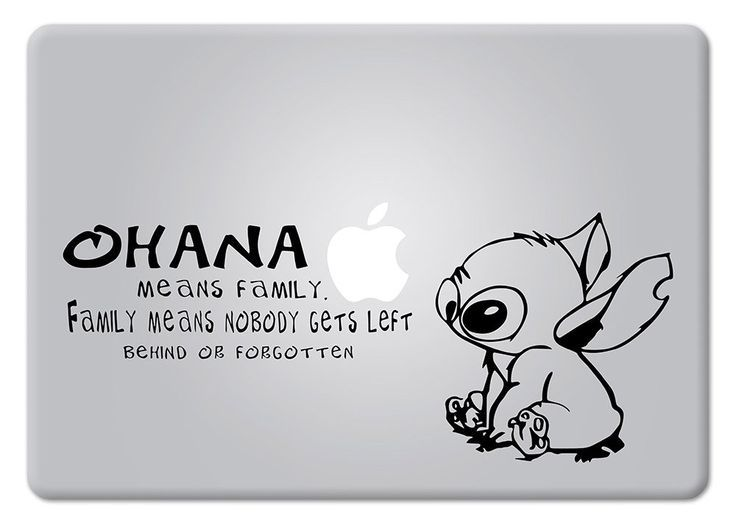 Macbook stickers macbook decal apple laptop apple mac lilo stitch laptop cases laptops decals ohana
