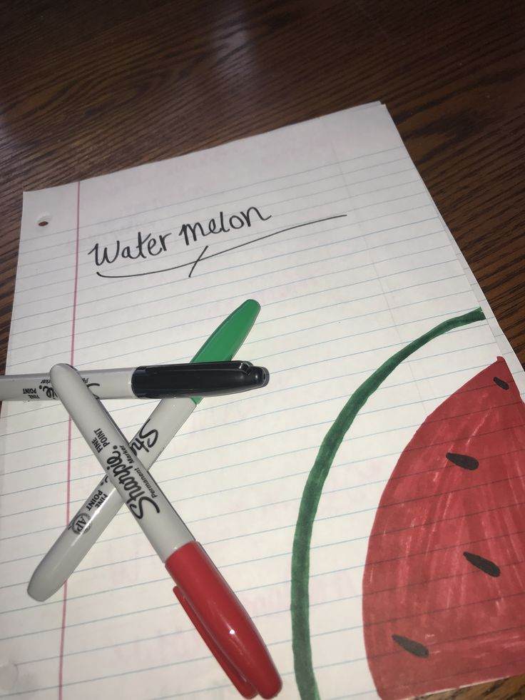 Easy watermelon drawing