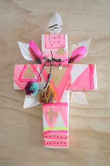 Embellished handcrafted crosses by Jai Vasicek