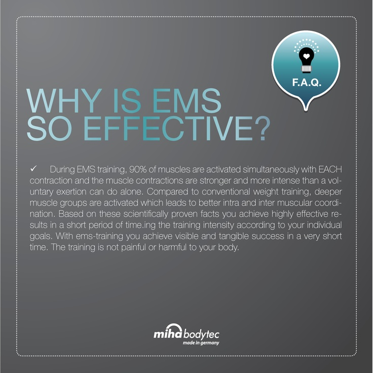 why is ems so effective?