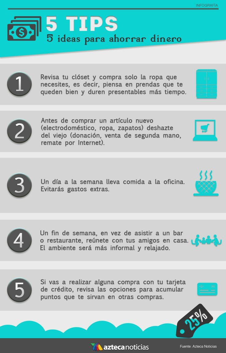5 tips para ahorrar dinero, Jesús Esparza Flores