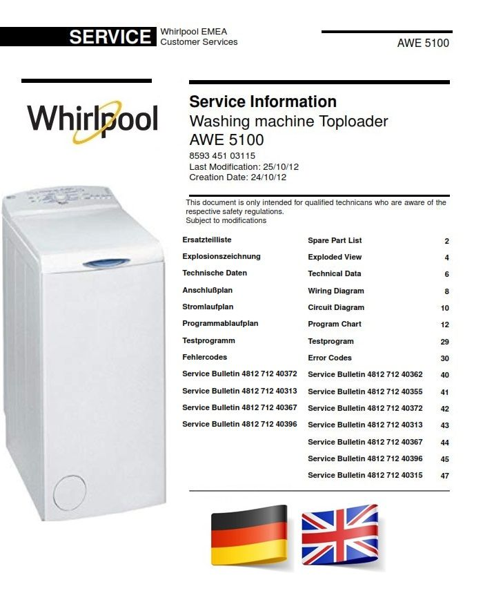 Whirlpool Awe 5100 Washing Machine Service Manual And Technicians Guide Washing Machine Service Whirlpool Repair Guide