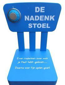 """""""Nadenkstoel of strafstoel?"""" Is de nadenkstoel niet eigenlijk gewoon een ander woord voor strafstoel? Lees het artikel hier: http://www.topwijs.nl/topblog/nadenkstoel-of-strafstoel"""