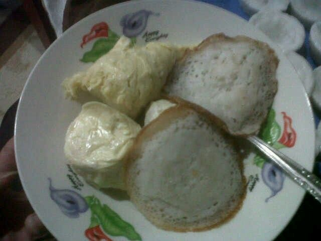 Durians and Panekuk (pancake).. -Maninjau West Sumatera