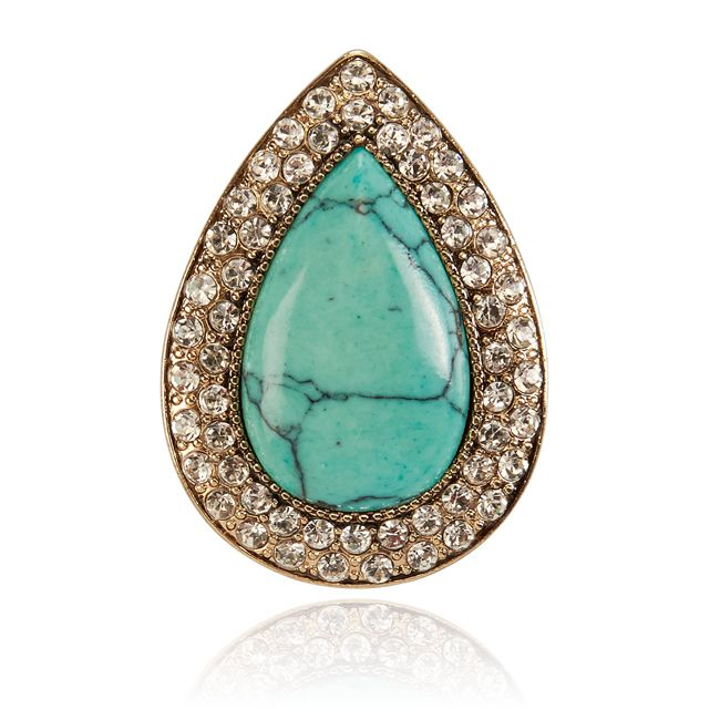 SAMANTHA WILLS - The Bardot Ring - Turquoise/Gold