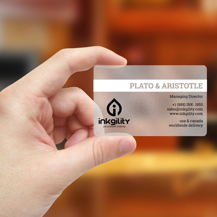 Plastic Frosted Business Cards Choice Image - Business Card Template