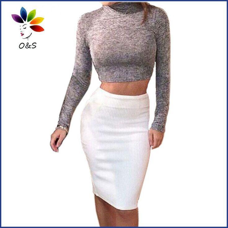 Autumn Winter Dress 2 pieces Set Women White Party Dresses Long Sleeve Knee Length Fashion Bodycon Women Clothing