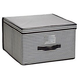 Isaac Mizrahi Jumbo Stripes Storage Box