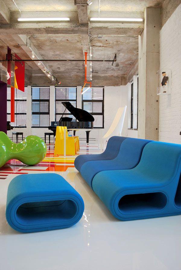 blueA Mini-Saia Jeans, Prismatic Colours, Interiors Colors, Colors Furniture, Architecture Interiors, Loft Interior, Products Design, Colors Interiors, Jeans Vervil