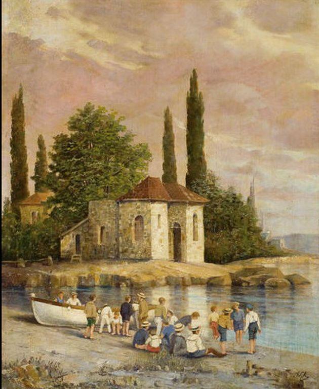 .:. Κούτσης Ιωάννης – Ioannis Koutsis [1860-1953] On the beach, Spetses