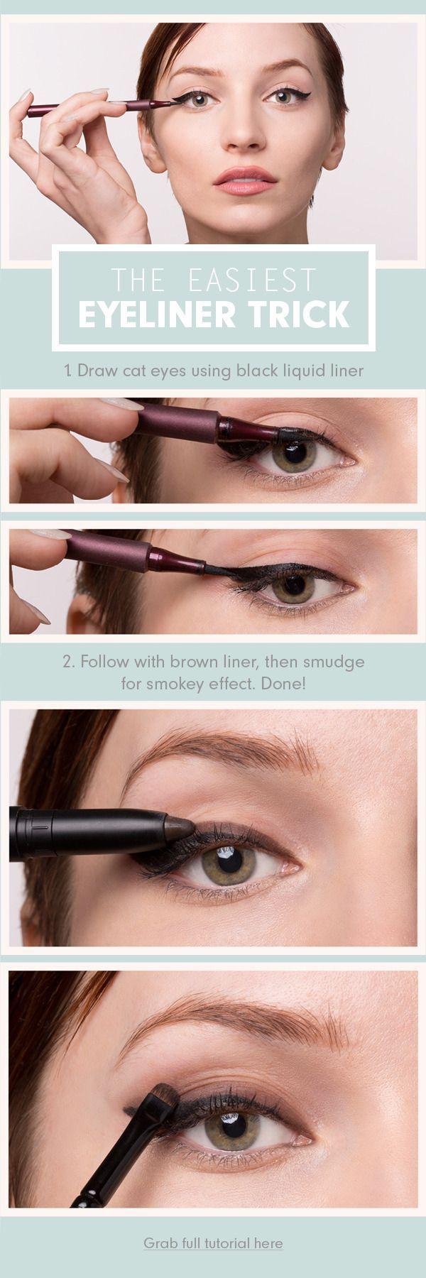easiest eyeliner trick ever