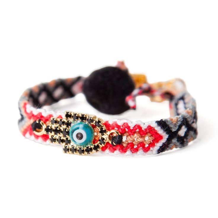 Dana Levy | Multicolour Diamante #Hamsa Hand Lucky Charm #Friendship #Bracelet