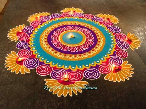 Beautiful rangoli                                                                                                                                                                                 More                                                                                                                                                                                 More