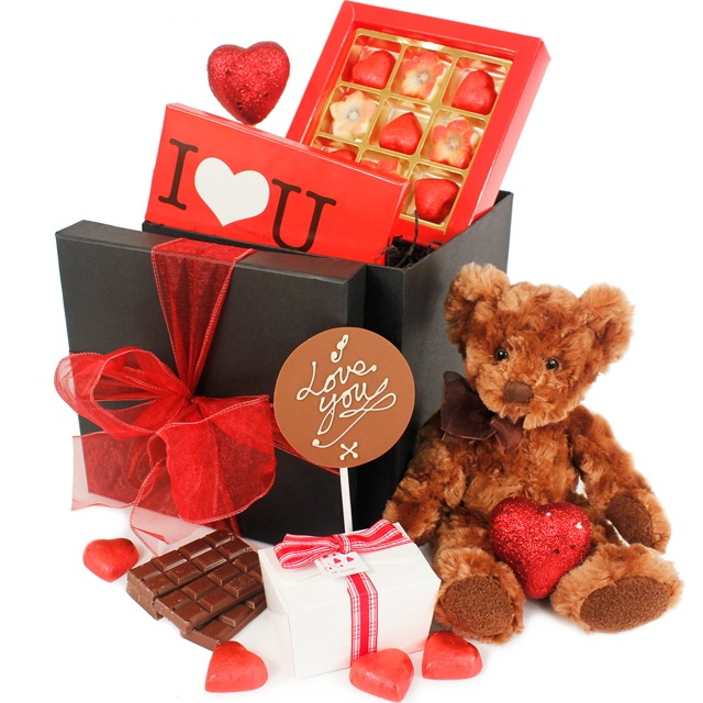 Valentines Chocolate Hamper www.eden4chocolates.co.uk
