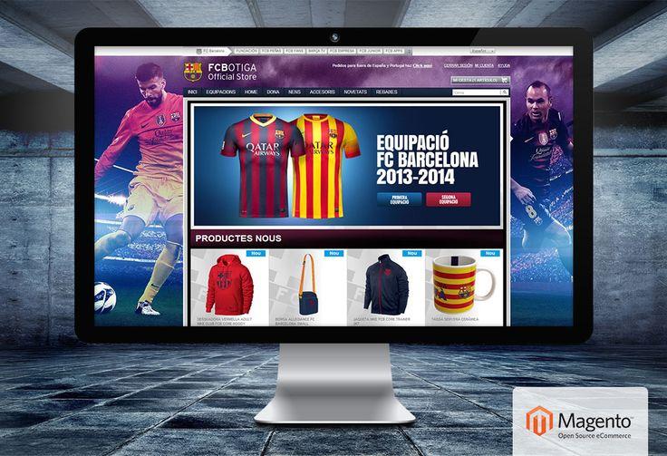 Gestión tienda online Magento para FC Barcelona | Dolphin Tecnologías