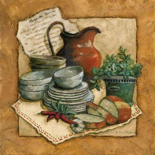 Variet de l minas para decoupage variadas y rom nticas for Cuadros para cocina vintage