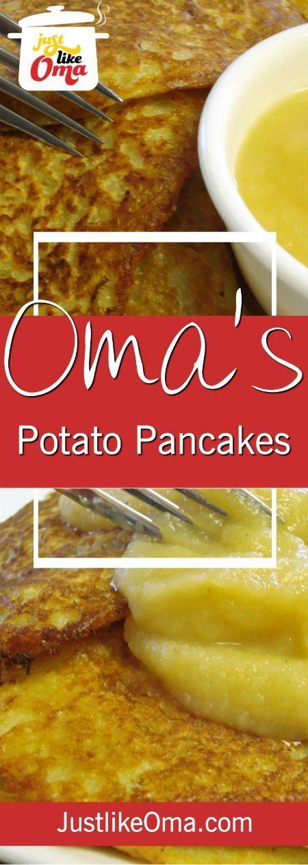 Oma's German Potato Pancake Recipe is really easy, using a blender instead of hand grating! Delicious for a traditional breakfast, lunch, or supper! Serve with applesauce or sour cream.