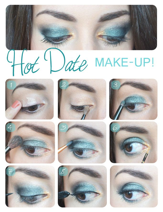 Hot Date Make up Tutorial #blue #makeup