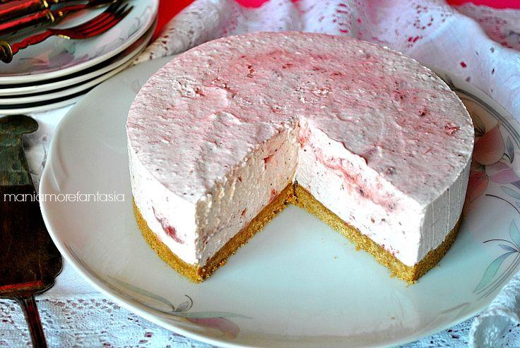 Torta fredda yogurt e marmellata