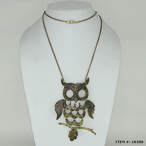 Owl Metal Necklaces By Hindicraft.com