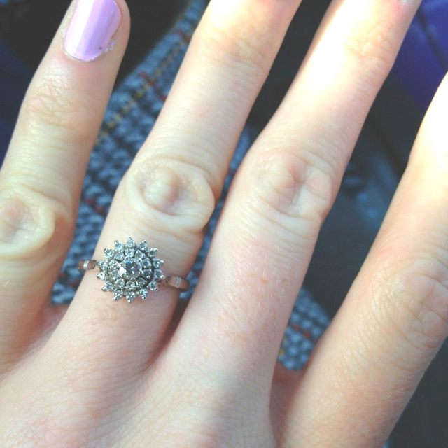 1950s starburst engagement ring.This is the one