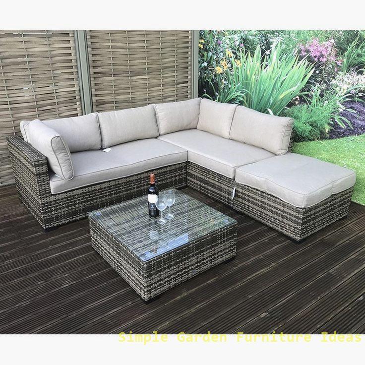 Most Affordable And Simple Garden Furniture Ideas Garden Diyfurniture In 2020 Rattan Corner Sofa Corner Sofa Garden Cheap Furniture Makeover