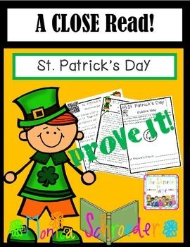 St. Patrick's Day.: A Close Read Learn how to get it free for a short time on my FB page! https://www.facebook.com/pages/The-Schroeder-Page/143975972343963?ref=hl