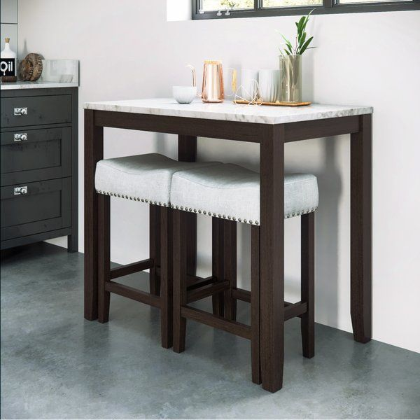 Rea 3 Piece Counter Height Dining Set Pub Table Sets Pub Table And Chairs Small Kitchen Tables