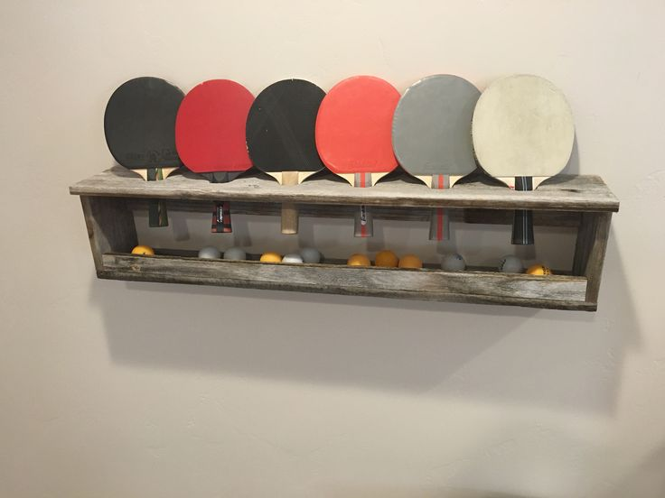 Table Tennis Paddle and Ball Holder