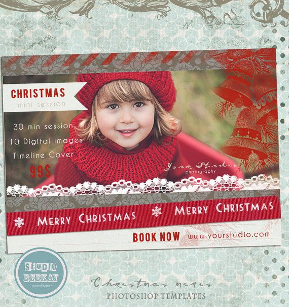 Christmas Minis Holiday Mini Session INSTANT by StudioBeeKay, $8.00