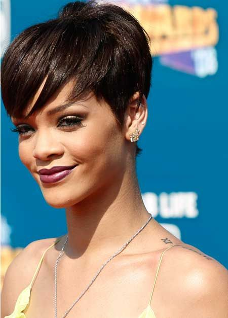 Astonishing 1000 Ideas About Rihanna Pixie Cut On Pinterest Malinda Short Hairstyles Gunalazisus