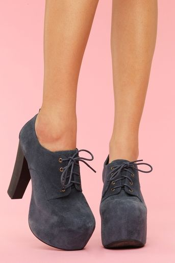 Jeffrey Campbell fairlane in suede navy                                                                                                                                                     More