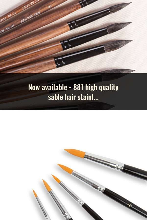 881 High Quality Sable Hair Stainless Cap Wooden Handle Art Paint