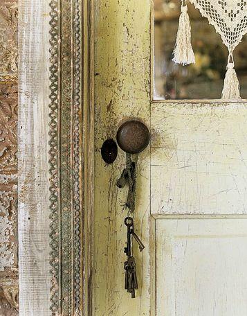 Vintage door and key