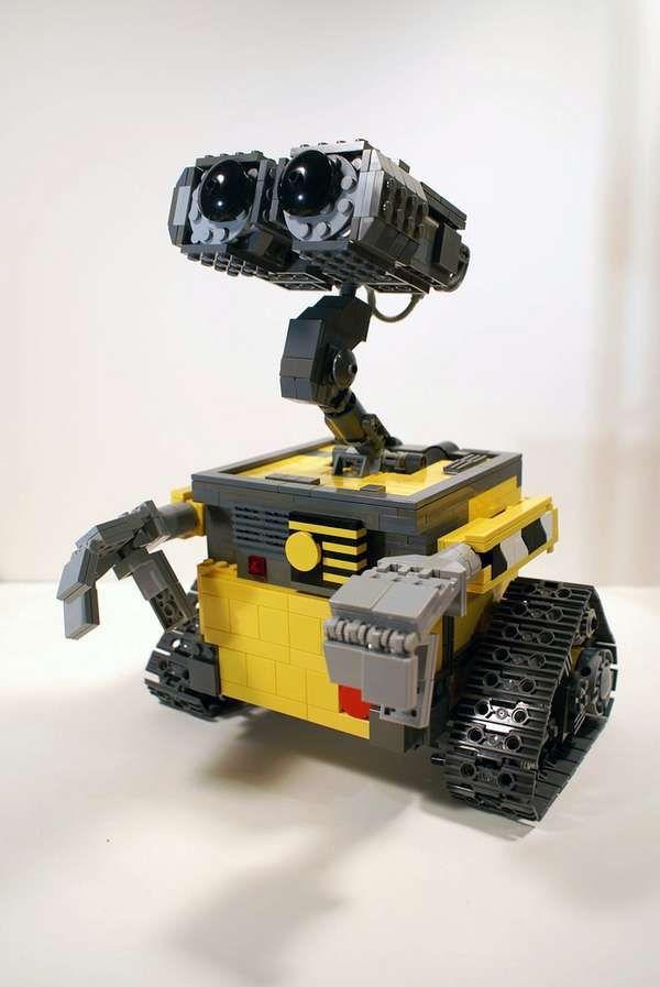 WALL-E Lego Model #legodesigns #legocreations trendhunter.com wall e lego robot concierge, brings morning paper?