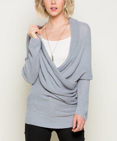 Look at this #zulilyfind! Gray Surplice Sweater #zulilyfinds