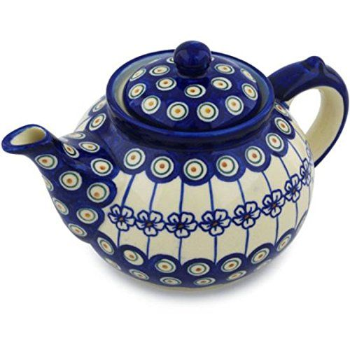 Ceramika Bona H0727H Polish Pottery Ceramic Tea or Coffee Pot Hand Painted 52Ounce >>> Click image to review more details.