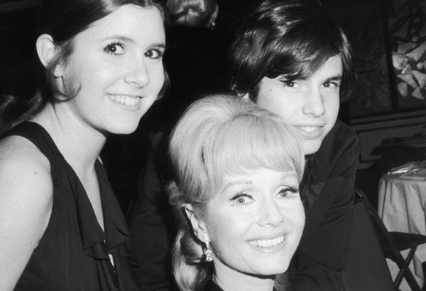 Debbie Reynolds, Carrie Fisher and Todd Fisher