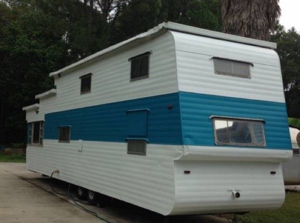 1954 %22Two-Story%22 Vintage Travel Trailer For Sale 0015