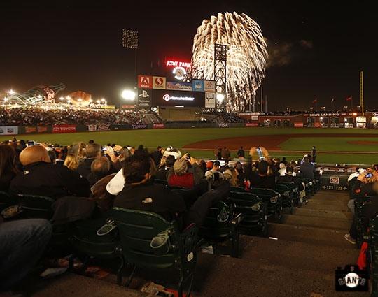 Fireworks night at AT Park on #OrangeFriday