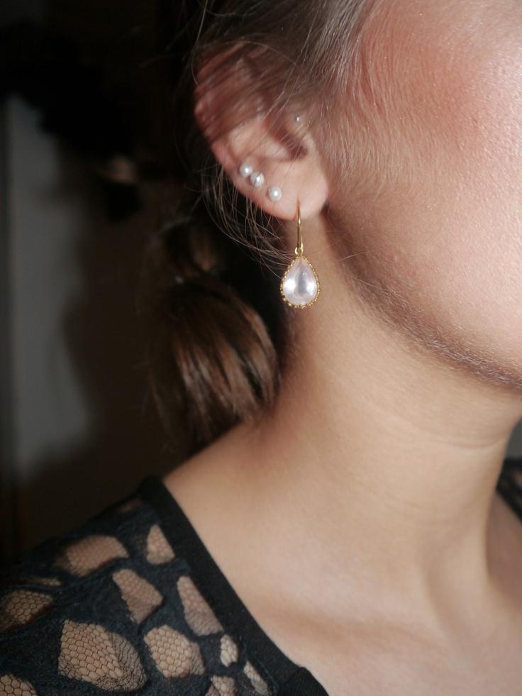 Danish blogger, Sofie, with Gilded Marvels earrings
