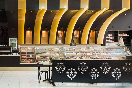 Sergio's Cake Shop, Marrickville, NSW, AU. Designed by Forward Thinking Design, fitout by Kalo Design, photography by Barton Taylor.