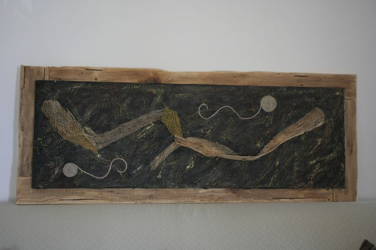 Pittura materica. quadro 150x50 tecnica mista