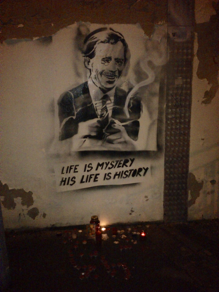 prague graffiti  vaclav havel